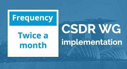 CSDR WG implementation