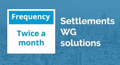 Settlements WG solutions