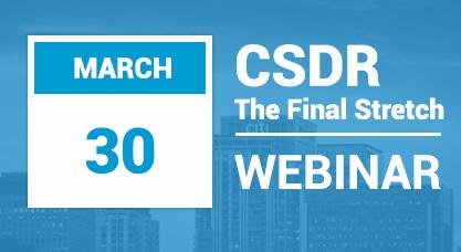 CSDR webinar